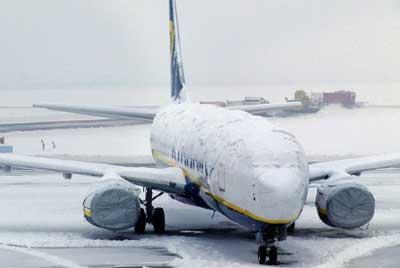 avión nieve